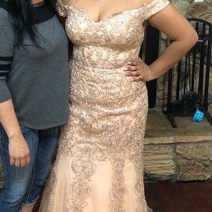 Blush Prom Dress size XL